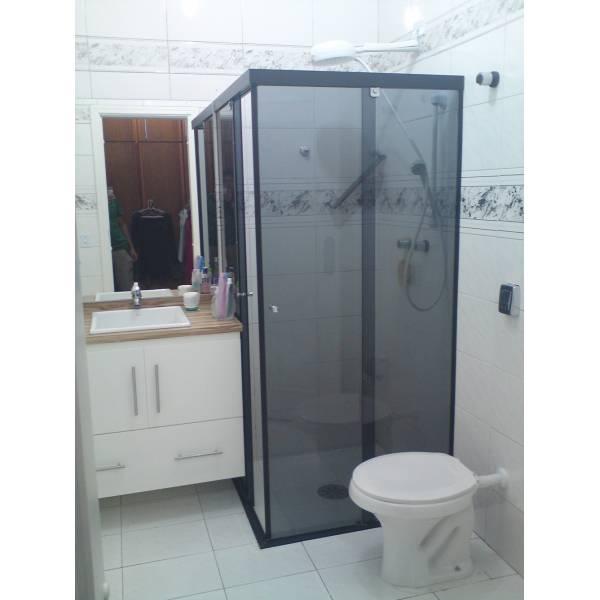 Box para Banheiro Canto Fumê na Barrocada - Box para Banheiro SP