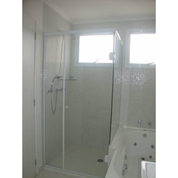 Box para Banheiro com Porta de Abrir em Ponte Pequena - Box para Banheiro no ABC