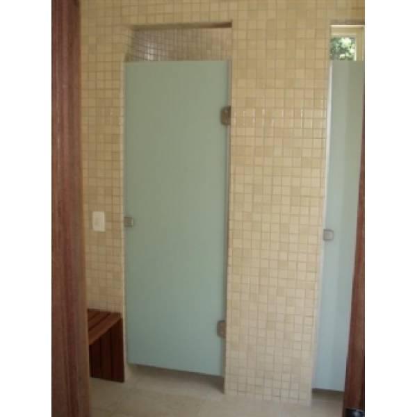 Box para Banheiro Serigrafado Branco no Jardim Brasília - Preço de Box para Banheiro