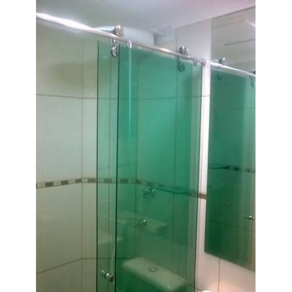 Box para Banheiro Vidro Colorido na Vila Nova Esperança - Box para Banheiro no ABC