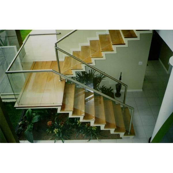 Corrimão de Escada Vidraçaria Preços no Jardim Myrna - Vidraçaria em SP