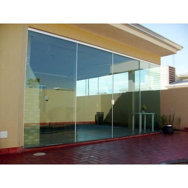 Fechamento em Vidro Temperado Cotação no Jardim Joamar - Porta para Lavanderia de Vidro
