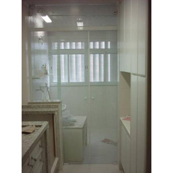 Fechamento em Vidro Temperado Loja na Vila Imperial - Porta para Lavanderia de Vidro Temperado