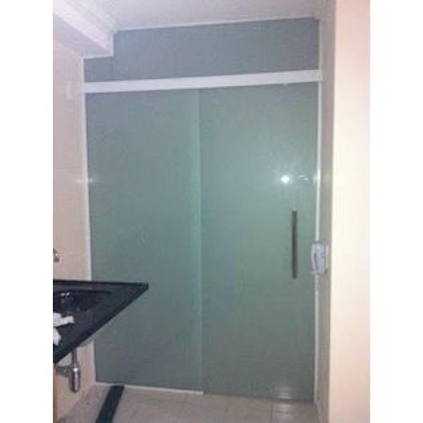 Fechamento em Vidro Temperado para Banheiro na Vila Tolstoi - Porta para Lavanderia de Vidro Temperado
