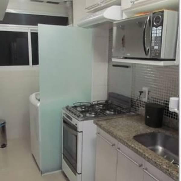 Fechamento em Vidro Temperado para Cozinha na Vila Santa Cruz - Porta para Lavanderia de Vidro
