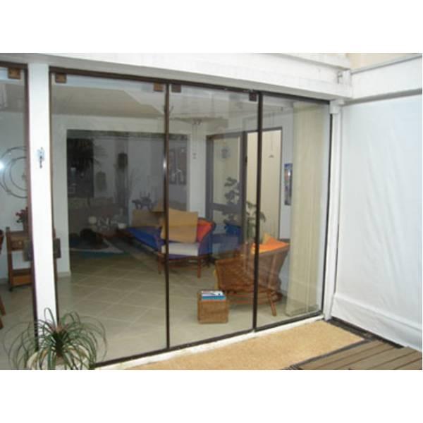 Fechamento Vidro Temperado no Jardim Ceci - Porta para Lavanderia de Vidro