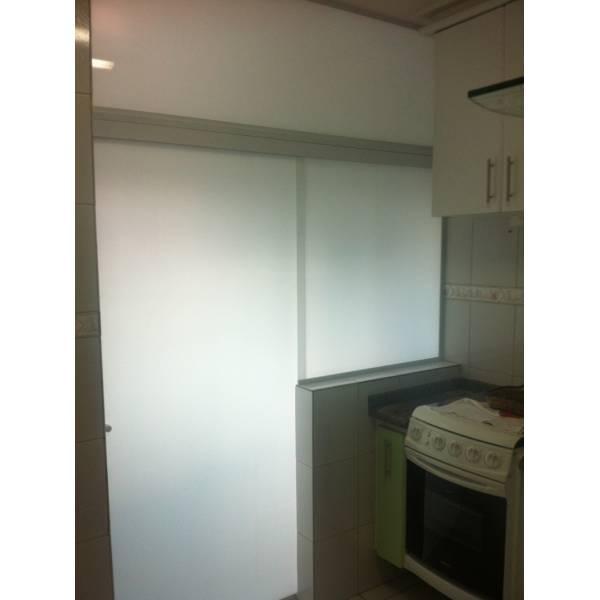 Fechamento Vidro Temperado para Cozinha na Vila Moreira - Porta para Lavanderia de Vidro