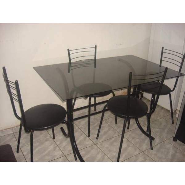 Mesa com Tampos de Vidro na Vila Domingos - Tampo de Vidro em SP