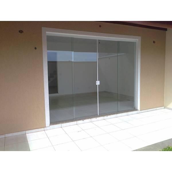 Orçamento Fechamento em Vidro Temperado no Jardim Pirajussara - Porta para Lavanderia de Vidro