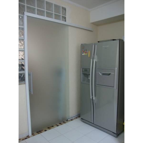 Porta de Correr Fosca Vidraçaria na Vila Alexandrina - Vidraçaria no ABC