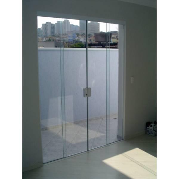 Porta Vidro De Correr Vidraçaria no Jardim Sítio do Morro - Vidraçaria em SP