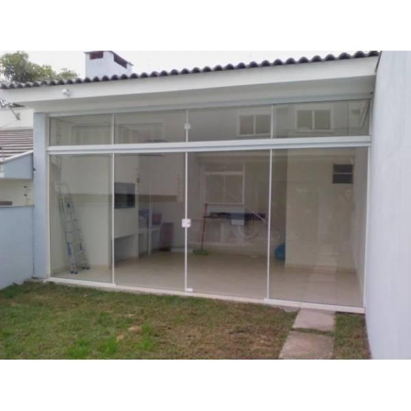 Excepcional Porta para Lavanderia de Vidro - Decorglass EO42