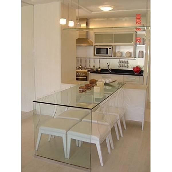 Sala Pequena Com Mesa De Vidro ~ Tampo de Mesa de Vidro  Decorglass