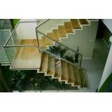 Corrimão de escada vidraçaria preços na Vila Baruel