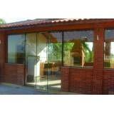 Fechamento em vidro temperado preços no Jardim Oliveira