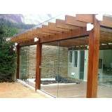 Fechamento vidro temperado orçamento na Vila Solange