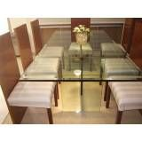 Tampos de vidro para mesa preços na Vila Penteado