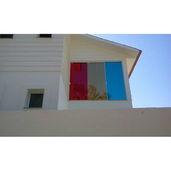 Vidro Colorido para Janela no Parque Nações Unidas - Vidro Colorido para Janela